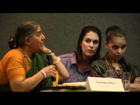 Amazing Vandana Shiva Slams Monsanto and UN at Rio 20 Conference 2012