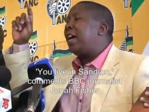 ANC-s Malema kicks out BBC reporter