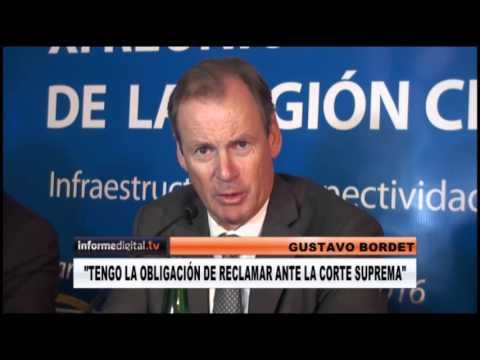 <b>Coparticipación.</b> Bordet confirmó que va a la Corte en el reclamo a Macri