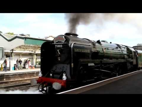 Old Steam Train - The Duke of Gloucester - leaving Newport Station 29 August 2011