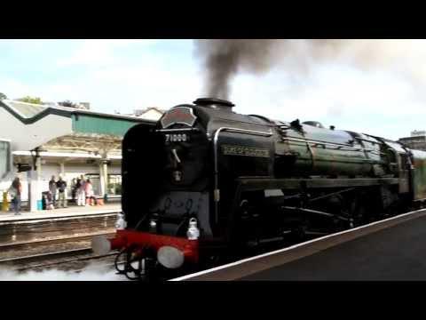 Old Steam Train - The Duke of Gloucester - leaving Newport Station 29 August 2011