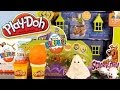 Play Doh Scooby Doo Mystery Mansion Full Playset Unboxing Kinder Surprise Egg - Disney Cars Toy Club