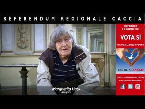 Appello al voto - Intervista a Margherita Hack sul referendum caccia in Piemonte