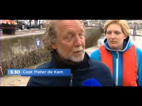 Tall Ship Astrid sinks off Cork Coast Tv3 news 24th July 2013