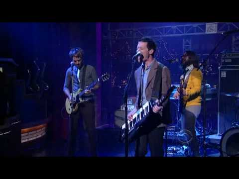 "Mutemath playing "" Backfire"" live on david letterman"