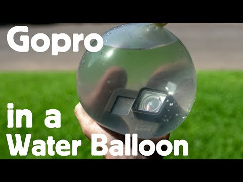 GOPRO in a WATER BALLOON