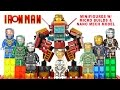 Iron Man 8-in-1 Suit of Armors w/ Micro Builds & Nano Mech Model LEGO KnockOff Set 12