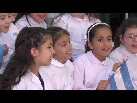 Los festejos por el Día de la Bandera en la Escuela República de Chile