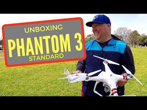 DJi Phantom 3 Standard Unboxing and First Flight Footage