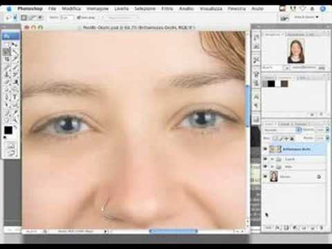 Corso Photoshop - Ritoccare gli occhi (tutorial) Italiano