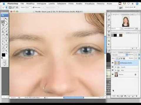 Corso Photoshop - Ritoccare gli occhi (tutorial) Italiano