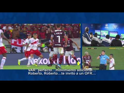El audio del VAR en el encuentro entre Flamengo e Internacional