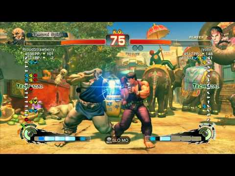 SSF4 AE: ProudStrawberry (Gouken) vs jyobin (Ryu) - Ranked Match (720p HD)