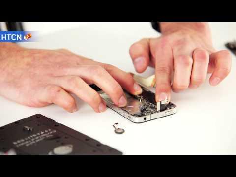 Remplacement bouton home iPhone 4. Réparation problème home.