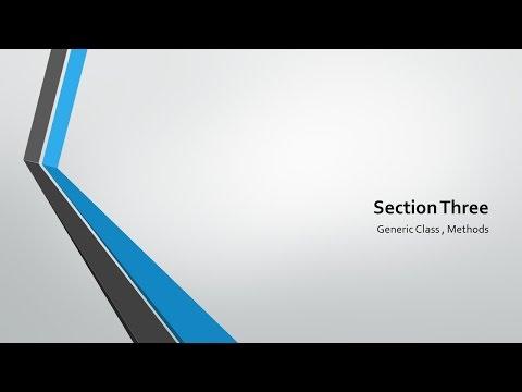 Data Structures - 11 Generic Methods