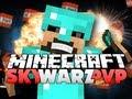 Minecraft Sky Warz PvP - STOP FALLING OFF!!