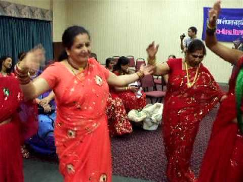 presents Nepali Teej geet dance 2009 Manassas USA part - 1