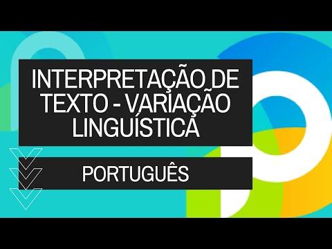 Português - Interpretação Texto - Variação Linguística - Vídeo Aula Concurso