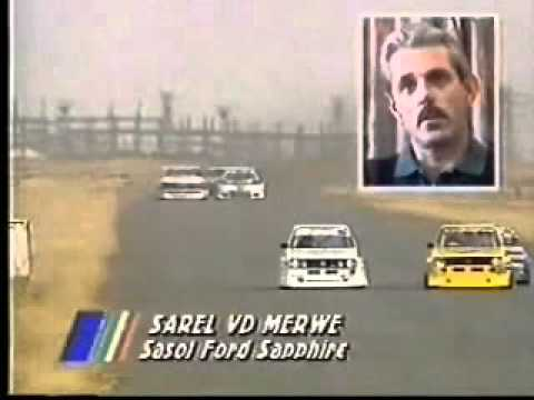 1992 Wesbank Modifieds - Terry Moss and Sarel van der Merwe crash at Goldfields