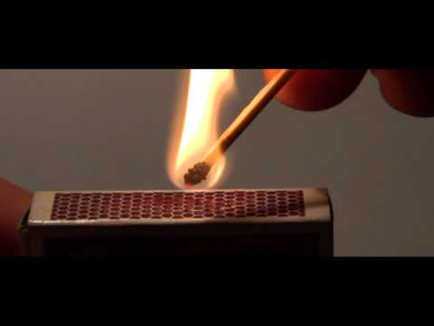Lighting Safety Match (Slow Motion 1080p)