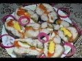 Необычный рулет из скумбрии с пикантной начинкой.Очень вкусная закуска к праздничному столу.