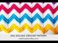 Zali Zig-Zag Crocheted Chevron Blanket