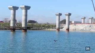 Visita as Obras da Ponte de Laguna em Julho de 2013