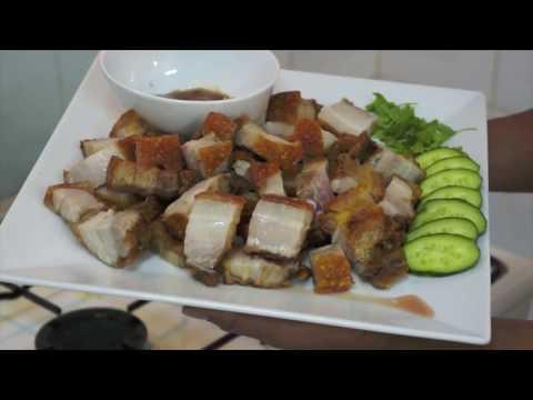 Crispy Pork - Lechon Kawali Recipe - Pinoy Cooking in English - Fried Crispy Pork belly
