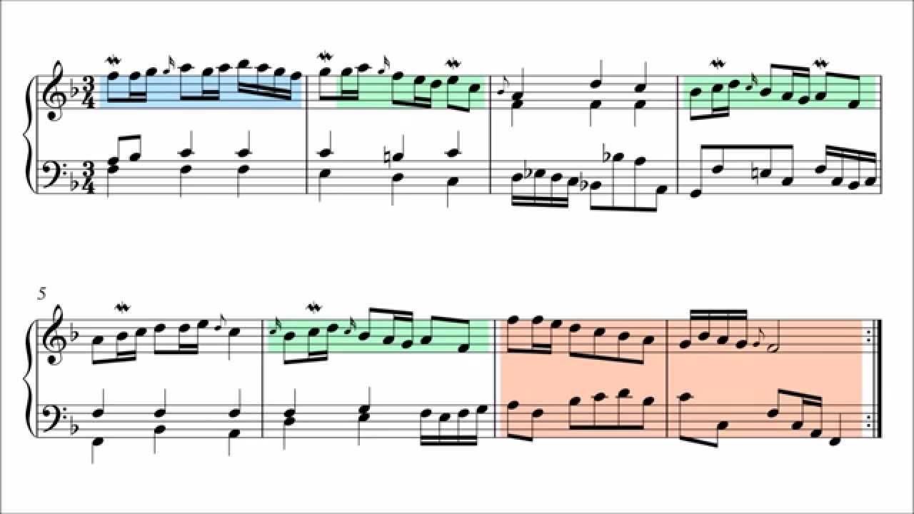 Polonaise f Major Bach Polonaise in f Major