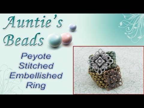 Karla Kam - Peyote Stitched Embellished Ring