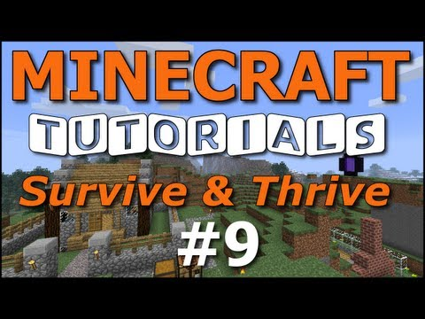 Minecraft Tutorials - E09 Fences and Gates (Survive and Thrive II)