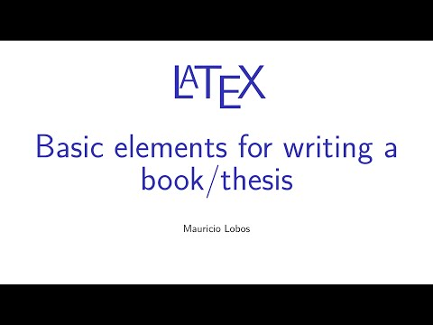 thesis tutorial book