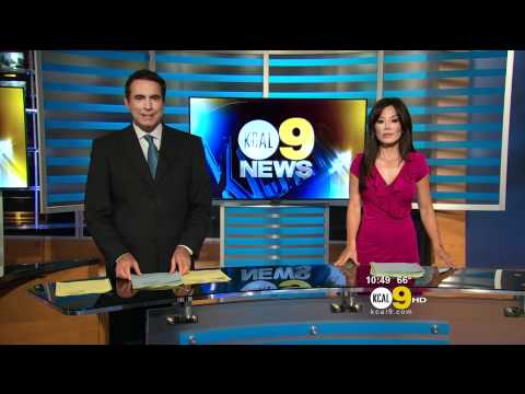 Sharon Tay 2011/09/13 10PM KCAL9 HD; Pink dress