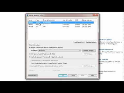 VMware Workstation Tutorial - VMware Virtual Network Overview
