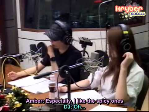 [Kryber Moment] 100616 Amber is just brag off that she ate a delicious food