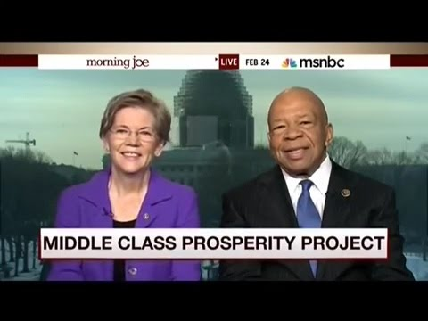 Warren and Cummings  Discuss Rich Getting Rich And Middle Class Getting Poor   (Democrats)