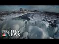 Watch NBC's Amazing Drone Video Above the Majestic, Frozen Niagara Falls | NBC Nightly News