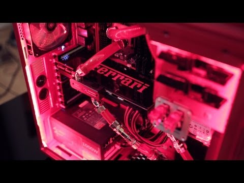 Ferrari 9590 Extreme Build: Water Cooled FX-9590 8-Core Gaming PC!