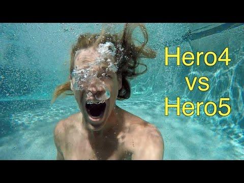 Underwater Sound Comparison - Hero5 Black vs Hero4 Black - GoPro Tip #552   MicBergsma