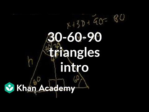 Intro to 30-60-90 Triangles