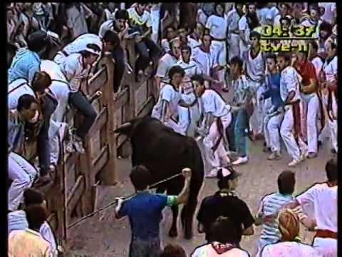 Encierro San Fermin Pamplona del día  13 7 1985