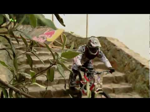 Urban downhill mountain bike race - Red Bull Monserrate Devotees 2012