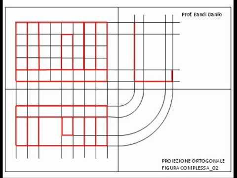 Proiezione ortogonale figura complessa_02