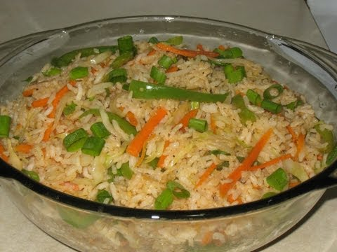 Indo Chinese vegetable fried rice recipe