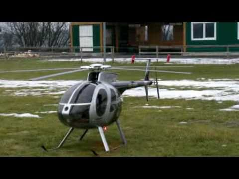 Scale RC Helicopter Hughes500E Rel.2 with real Turbine sound (HigherRes) - UC7OK1y09F-yPofTd1xS3Cbw