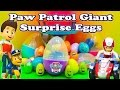 PAW PATROL Nickelodeon Giant Surprise Eggs Paw Patrol Surprise Egg Video