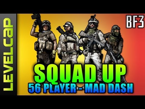 Squad Up - 56 Player Damavand Rush Insanity (Battlefield 3 Gameplay/Commentary)