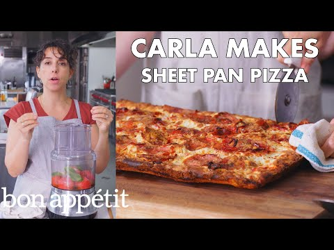 Carla Makes Sheet Pan Pizza From The Test Kitchen Bon