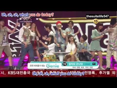 B1A4 - Baby Goodnight [Music Bank] (12.06.22) {Hangul, Romanization, Eng Sub, Fanchants}