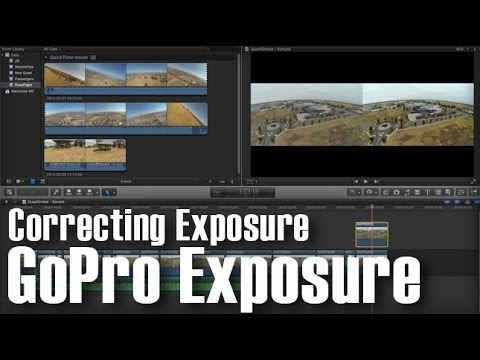 GoPro Final Cut Pro X Exposure Correction on Overcast days